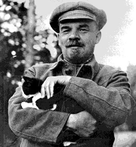 lenin-and-cat